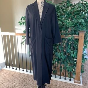 H and M Long Sleeve Duster Trench Coat Size 12